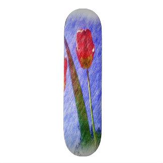 tulip flower drawing skateboard decks