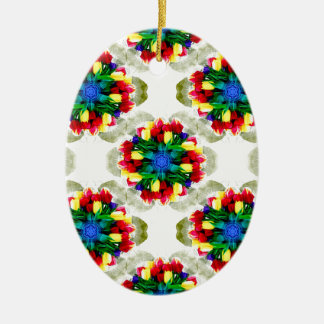 Tulip Flower Mandala Christmas Ornament