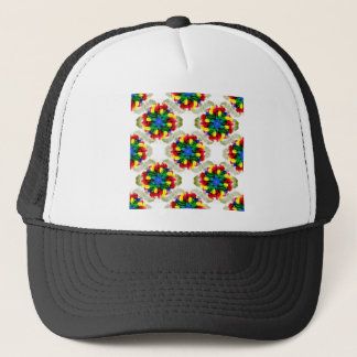 Tulip Flower Mandala Trucker Hat