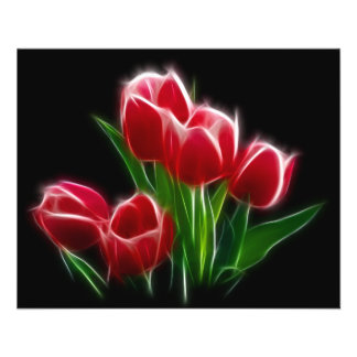 Tulip Flower Red Plant 11.5 Cm X 14 Cm Flyer