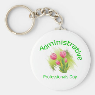 Tulip Flowers Administrative Professionals Day Key Ring