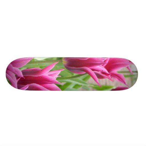 Tulip Flowers Custom Skate Board