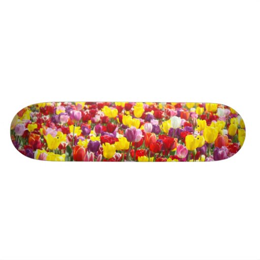 Tulip Flowers Skateboard custom Colorful for her