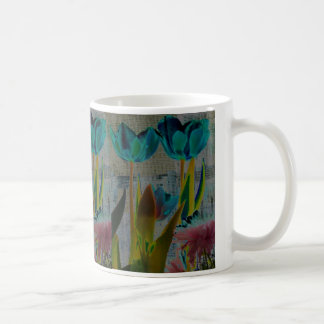 TULIP GARDEN FLOWER PHOTO PRINT COFFEE MUG