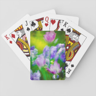 Tulip garden, Giverny, France Playing Cards