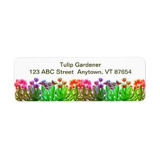 Tulip Garden Rainbow Customizable