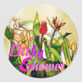 Tulip Ground Baby Shower Art Sticker