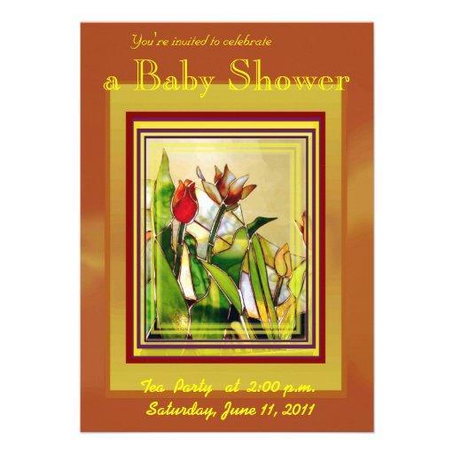 """ Tulip Ground "" Baby Shower Invitation Card"