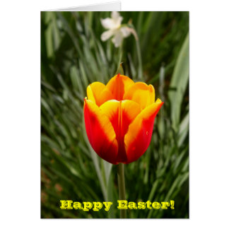 Tulip Happy Easter Greeting Card
