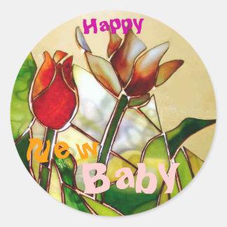 Tulip Happy New Baby Stickers