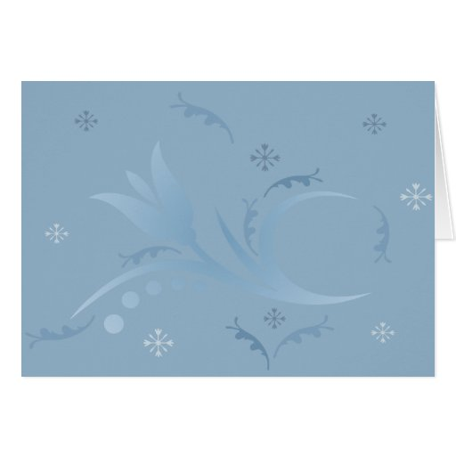 Tulip Mist in Blue Card