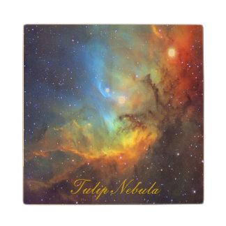 Tulip Nebula Maple Wood Coaster