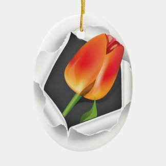 tulip-paper-vector christmas ornament