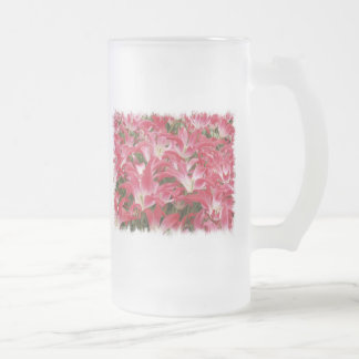Tulip Photos Frosted Beer Mug