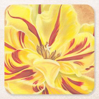 Tulip Power II Square Paper Coaster