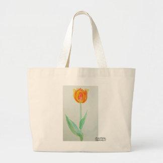 Tulip -Prairie mile series - watercolor design Jumbo Tote Bag