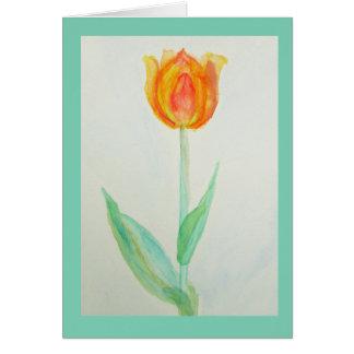 Tulip - Prairie mile watercolor design Greeting Card