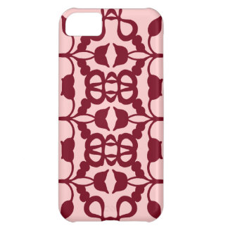 Tulip Red Rose Scroll Pattern iPhone 5C Case