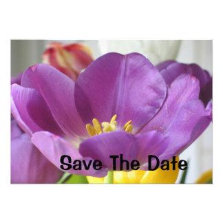 TULIP SAVE THE DATE INVITATION