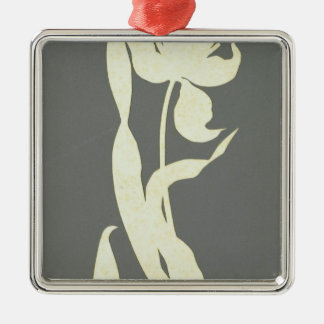 Tulip Silver-Colored Square Decoration