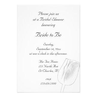 Tulip Sketch Bridal Shower Invitation