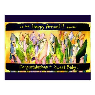 Tulip Square Happy Arrival Post Cards