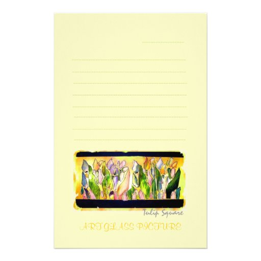 Tulip Square LETTER Stationery