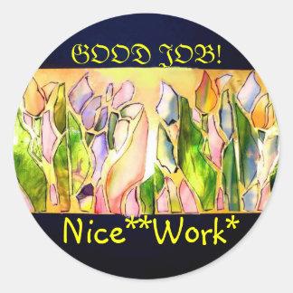 Tulip Square Nice Work Stickers