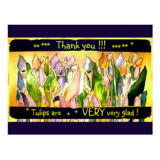 Tulip Square Thank you Post Card