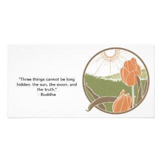 Tulip Sun Shunshine Art Nouveau Photo Card