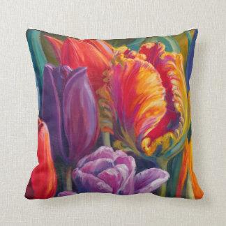 Tulip Tales Throw Cushion