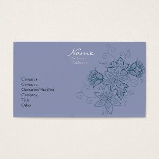 Tulip Tattoo Business Cards (Dusk)