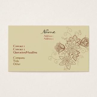 Tulip Tattoo Business Cards (Sand)