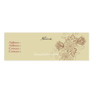Tulip Tattoo Profile Cards Sand Business Card Templates