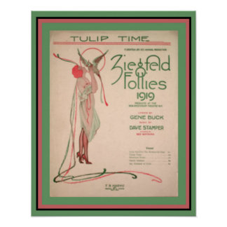Tulip Time Ziegfeld Follies 1919 poster 16 x 20