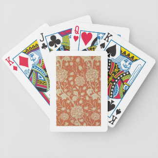 Tulip wallpaper design, 1875 bicycle playing cards