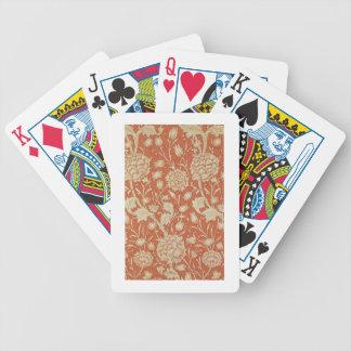 Tulip wallpaper design, 1875 poker deck
