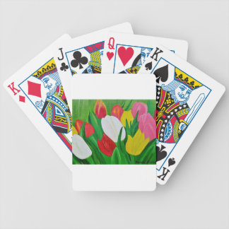 Tulips 2a bicycle playing cards