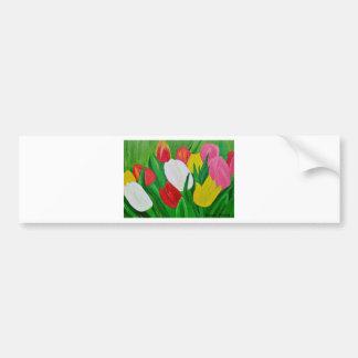Tulips 2a bumper sticker