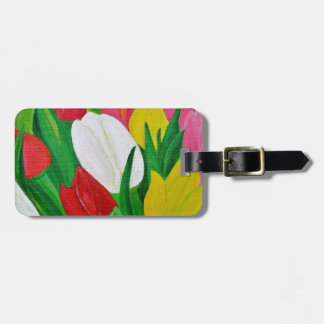 Tulips 2a luggage tag