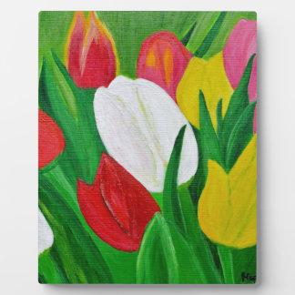 Tulips 2a plaque