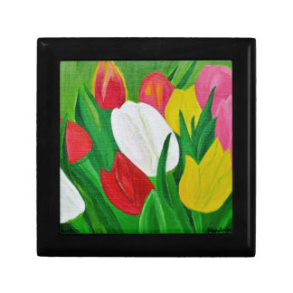 Tulips 2a small square gift box