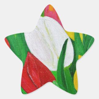 Tulips 2a star sticker