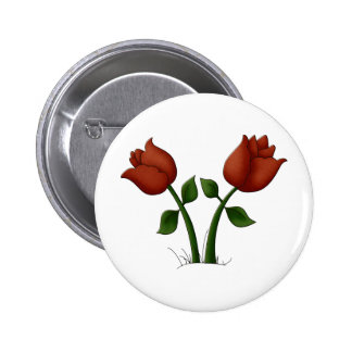 Tulips 6 Cm Round Badge