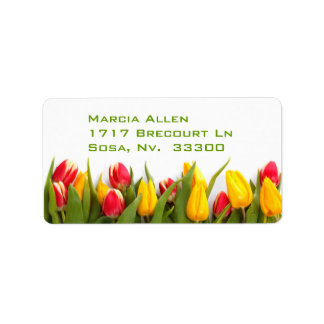 Tulips Address Label