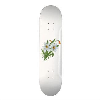Tulips and Daffodils Flowers 21.6 Cm Old School Skateboard Deck