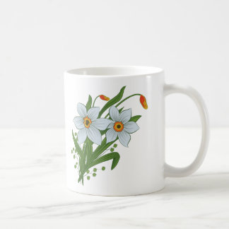 Tulips and Daffodils Flowers Coffee Mug