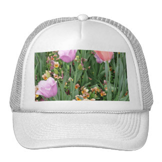Tulips and Pansies Cap
