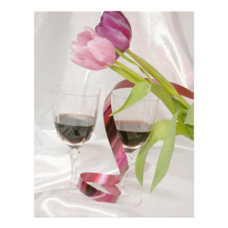 tulips and red wine 21.5 cm x 28 cm flyer