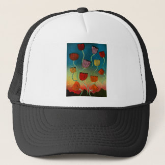Tulips ascending trucker hat